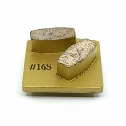 16 grit soft bond redi lock husqvarna 1 16 Grit Diamond Segments Concrete Grinding Shoes Husqvarna Redi Lock compatible shape LeBurg Diamond Tools