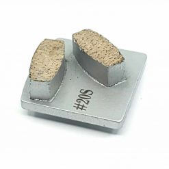 20 grit soft bond redi lock husqvarna 2 20 Grit Diamond Segments Concrete Grinding Shoes Husqvarna Redi Lock compatible shape LeBurg Diamond Tools