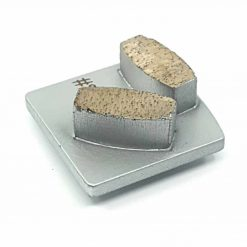 20 grit soft bond redi lock husqvarna 5 20 Grit Diamond Segments Concrete Grinding Shoes Husqvarna Redi Lock compatible shape LeBurg Diamond Tools