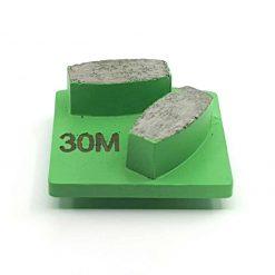 1 30 Grit Diamond Segments Concrete Grinding Shoes Husqvarna Redi Lock compatible shape LeBurg Diamond Tools