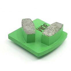 10 30 Grit Diamond Segments Concrete Grinding Shoes Husqvarna Redi Lock compatible shape LeBurg Diamond Tools