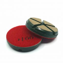 100 grit ceramic puck 6 Ceramic Diamond Bond Concrete Floor Polishing Pucks LeBurg Diamond Tools