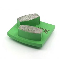 15 30 Grit Diamond Segments Concrete Grinding Shoes Husqvarna Redi Lock compatible shape LeBurg Diamond Tools