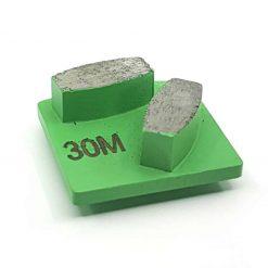 24 30 Grit Diamond Segments Concrete Grinding Shoes Husqvarna Redi Lock compatible shape LeBurg Diamond Tools