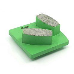 5 30 Grit Diamond Segments Concrete Grinding Shoes Husqvarna Redi Lock compatible shape LeBurg Diamond Tools
