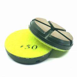 50 grit ceramic puck 1 Ceramic Diamond Bond Concrete Floor Polishing Pucks LeBurg Diamond Tools