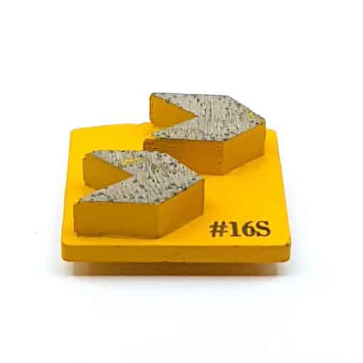 1 16 Grit Diamond Arrow Segments Concrete Grinding Shoes Redi Lock Husqvarna compatible shape LeBurg Diamond Tools