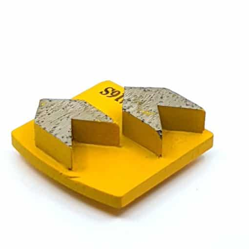 16 16 Grit Diamond Arrow Segments Concrete Grinding Shoes Redi Lock Husqvarna compatible shape LeBurg Diamond Tools