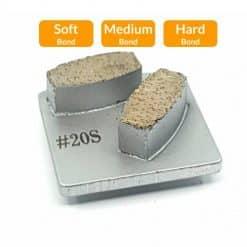 20 grit redi lock husqvarna concrete grinding segments