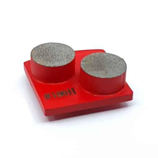 shot 20210322135508 100 Grit Diamond Segments Concrete Grinding Shoes Husqvarna Redi Lock compatible shape LeBurg Diamond Tools